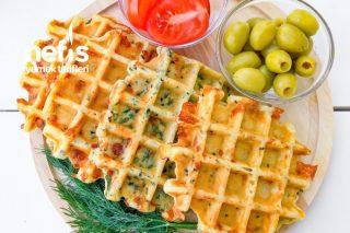 Çeşitli Peynirli Waffle Tarifi