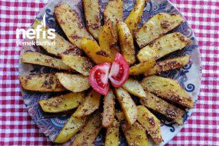 Fırında Susamlı Baharatlı Patates Tarifi