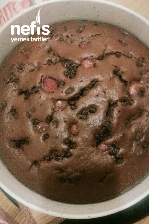 Parça Çikolatalı Kirazlı Kek