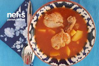 Tavuk Bagetli Sulu Patates Yemeği Tarifi