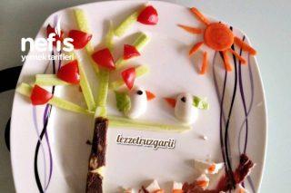 Miniklere Kahvaltı Tabağı Serisi- Kuş Cıvıltısı Tarifi