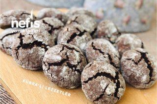 Çatlak Kurabiye (Bol Fındıklı Ve Çikolatalı) Tarifi