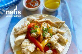 Fırında Tavuk Fajita (25 Dakikada Hazır) Tarifi