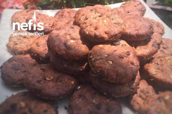 Çikolatalı Çıtır Fit Cookie Tarifi