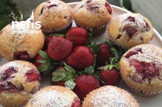 Çilekli Muffin Kek Tarifi
