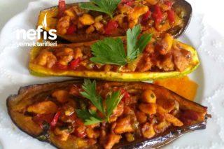 Tavuklu Kabak Ve Patlıcan Sandal Tarifi