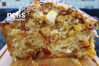Karamelize Soğanlı, Kuru Domatesli Tuzlu Kek (Videolu) Tarifi