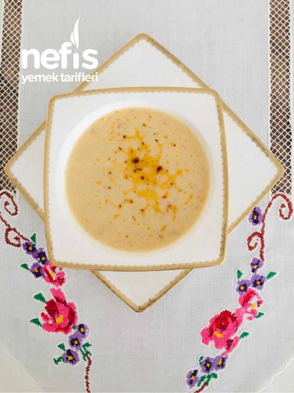 Sütlü Soğanlı Nefis Patates Çorbası