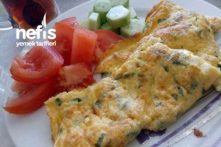 Peynirli Kapalı Omlet Tarifi