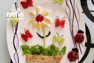 Miniklere Kahvaltı Tabağı Serisi Kelebekli Bahçe Tarifi