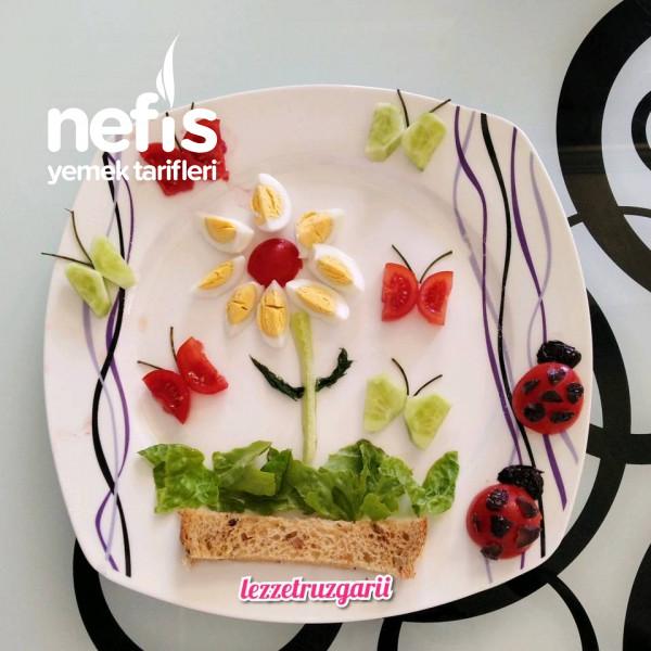 Miniklere Kahvaltı Tabağı Serisi – Kelebekli Bahçe