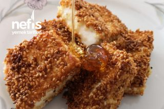 Susam Mantolu Ballı Kızarmış Peynir (Peynir Kızartması) Tarifi