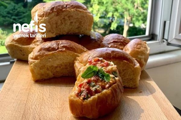 Yumurtasız Brıoche Ekmeği Yumuşacık Puf Puf Fransız Ekmeği