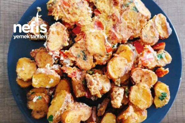 Kahvaltılık Simitli Sebzeli Omlet (Videolu) Tarifi
