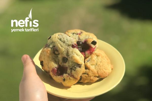 Vişne Ve Damla Çikolatalı Cookie Tarifi