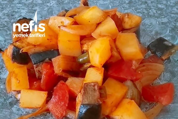 Artan Sebzelerden Sağlıklı Fırın Sebze Tarifi