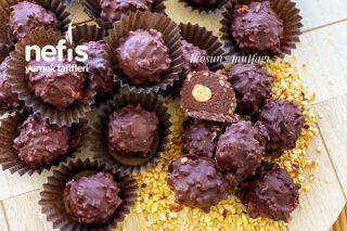 Ev Yapımı Ferrero Rocher Çikolata (20 Adet) Tarifi