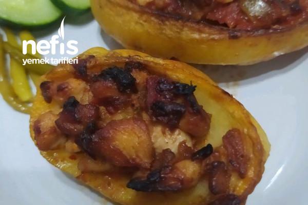 Fırında Tavuklu Patates Dolması Tarifi