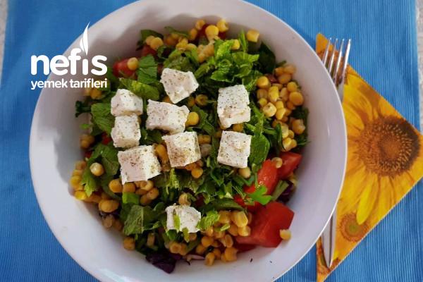 Peynirli Yaz Salatası (Diyete Uygun) Tarifi