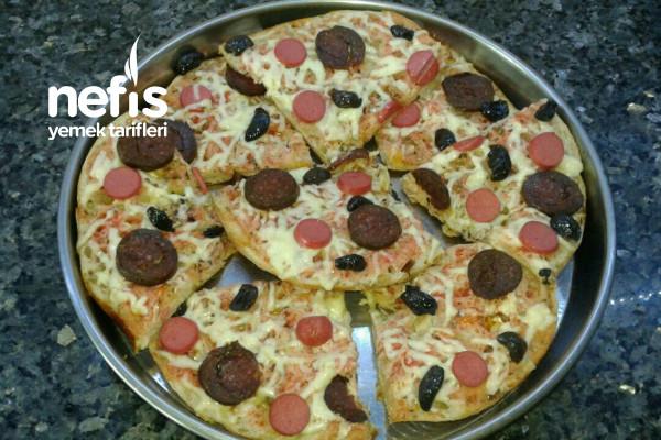Ramazan Pidesinden Pratik Pizza Tarifi