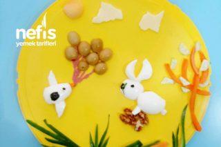 Tavşan, Kuşun Uçurduğu Balonlara Bakıyor Tarifi