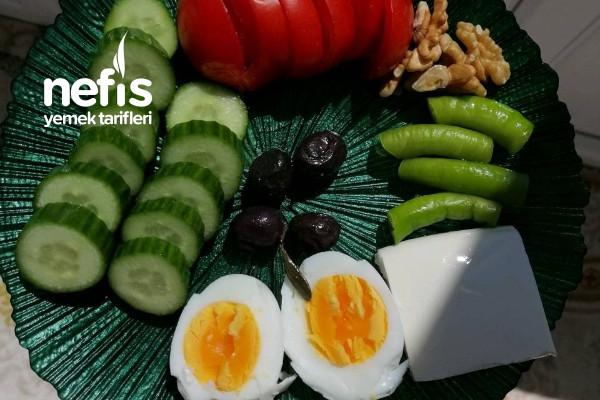 Sağlıklı Kahvaltı Tabağı Tarifi
