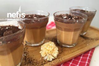 Karamelli Çikolatalı Muhallebi Tarifi