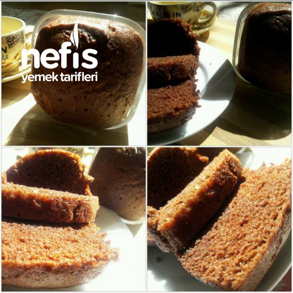 Tencerede Porsiyonluk Sünger Kek (Kahve ve Kakao birarada)