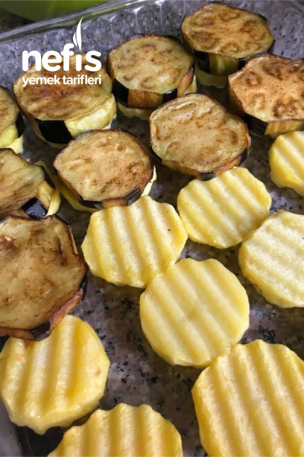 Köfteli Patlıcan Dizme