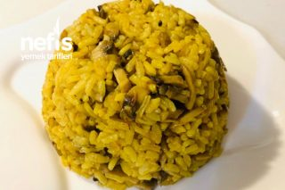 Mantarlı Sarı Pilav (Davet Pilavı) Tarifi