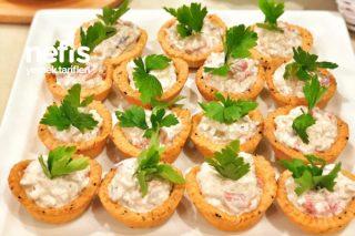 Çıtır Kaselerde Közkenmiş Patlıcanlı, Közlenmiş Biberli Salata Tarifi