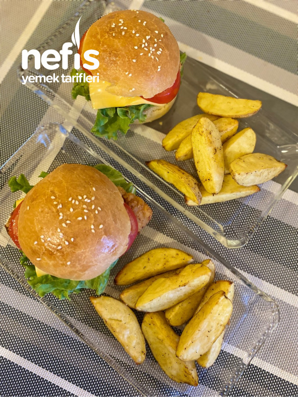 Ev Yapımı Nefis Tavuk Burger