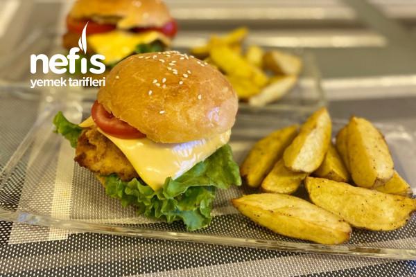 Ev Yapımı Nefis Tavuk Burger Tarifi