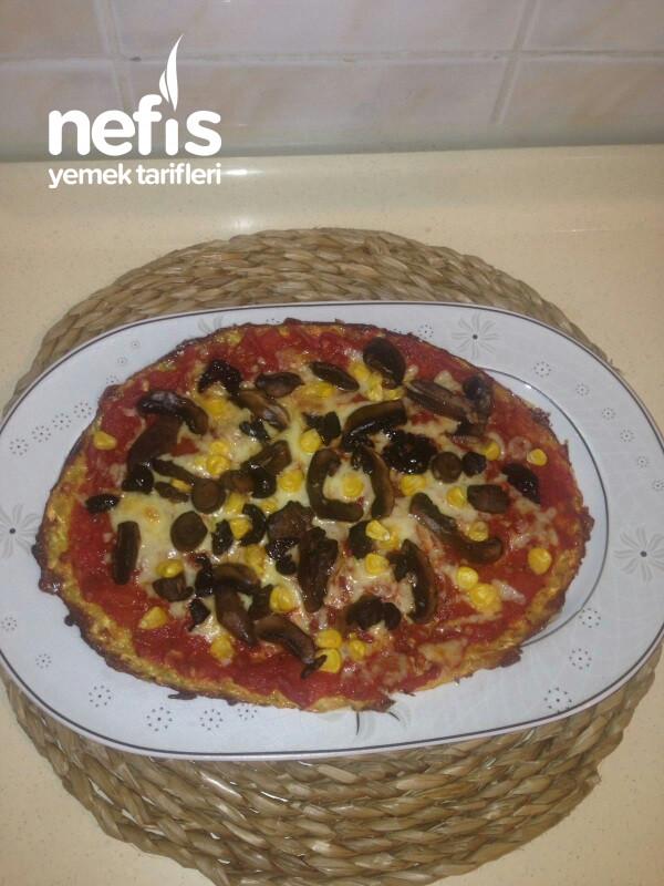 Efsane Kabak Alt Tabanlı Diyet Pizza
