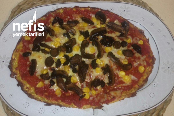 Efsane Kabak Alt Tabanlı Diyet Pizza Tarifi
