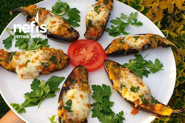 Fırında Sebzeli Patlıcan