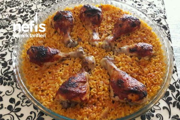Bulgur Pilavlı Tavuk Baget Kapama Tarifi