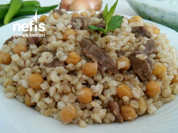 Etli Nohutlu Buğday Pilavı (Gendime)