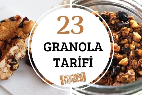 Granola Tarifleri: Sağlıklı ve Fit 23 Çeşit Tarifi