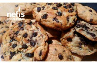 Nefis Çikolata Parçacıklı Cookie Tarifi