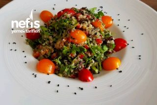 Avokadolu Kinoa Salatası (Videolu) Tarifi