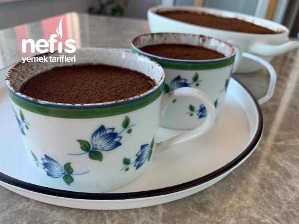 Damla Sakızlı Çikolata Soslu Muhallebi