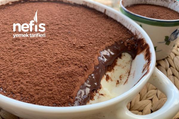 Damla Sakızlı Çikolata Soslu Muhallebi Tarifi