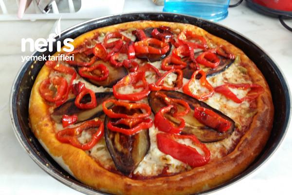 Patlıcanlı Vejeteryan Pizza Tarifi