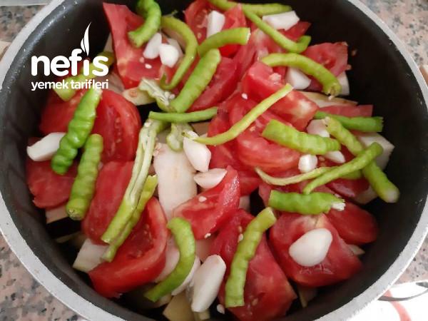 Zetinyağlı Sebzeli Yaz Yemeği kızartma Lezzetinde