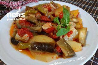Zeytinyağlı Sebzeli Yaz Yemeği (Kızartma Lezzetinde) Tarifi