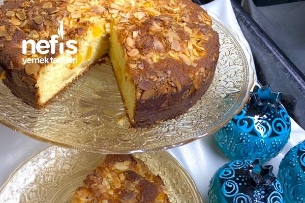 Yumuşacık Tam Kıvamında Şeftalili Kek Tarifi