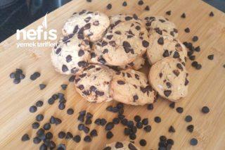Bademli Damla Çikolatalı Kurabiye (Ceviz Baya Fındıklı Olabilir) Tarifi
