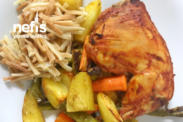 Fırında Sebzeli Tavuk Tarifi