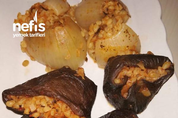 Kuru Patlıcan Soğan Dolması Tarifi